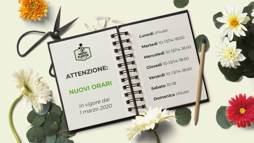 Nuovi orari - Green Flower shop